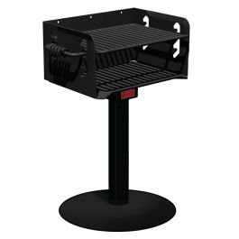 Pilot Rock N-20 Series 300 Sq. Inch Park Grill with Portable Base