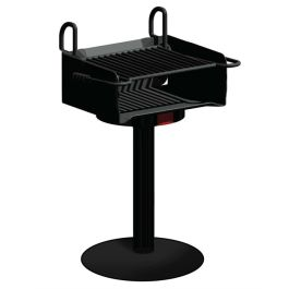 Pilot Rock A-20 Series 320 Sq. Inch Adjustable Park Grill with Portable Base