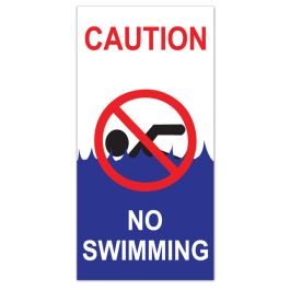 "Anova 21""H x 10 1/2""W Plastic Sign - No Swimming"