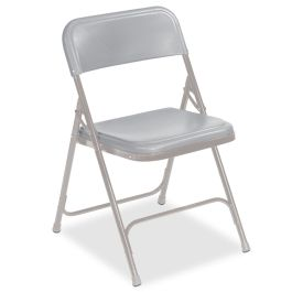 Gray Lightweight Folding Chair with Gray Frame, Set of 4