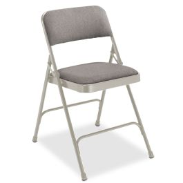 Fabric Upholstered Folding Chair with Steel Frame, Set of 4
