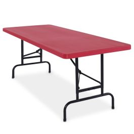 6' Rectangular Plastic Folding Table with Adjustable Height