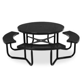 Anova Round Expanded Steel Table, Portable Frame