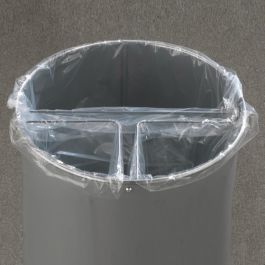 Glaro Clear 16 Gallon Poly Bags for Multi-Stream Recycler