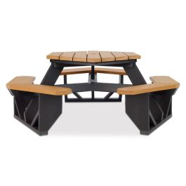Anova Recycled Plastic Hexagonal Picnic Table