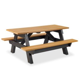 Anova 6' Rectangular Picnic Table, Recycled Plastic Legs