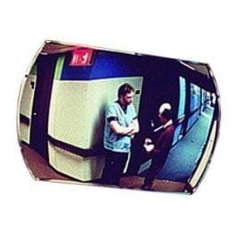 """See All Industries 20"""" x 30"""" Rectangular Convex Outdoor Acrylic Security Mirror"""