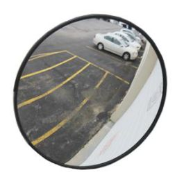 "See All Industries 26"" Round Convex Outdoor Acrylic Security Mirror"