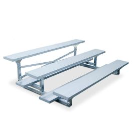 7 1/2' Aluminum Three Row Bleacher