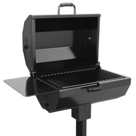 Jamestown Advanced Products Covered Smoker Grill with Inground Mount Post