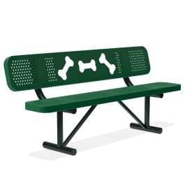 DogiPark® Bone Park Bench