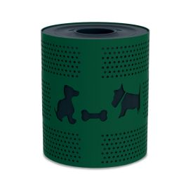 DogiPark® 32 Gallon Steel Trash Receptacle