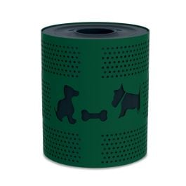 DogiPark 32 Gallon Steel Trash Receptacle