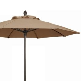 "Fiberbuilt 7 1/2' Octagon Market Umbrella, Push/Pin, Std Color - 93"" High"