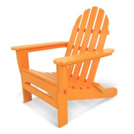Polywood® Classic Recycled Plastic Folding Adirondack Chair, Vibrant Colors