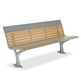 Anova Allure Recycled Plastic 6' Contour Bench