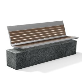 Anova Allure Recycled Plastic 6' Contour Bench, Wall Mount