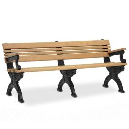 Polly Products Cambridge 6' Backed Bench with Armrests