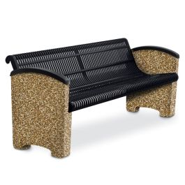 Anova Balance 6' Slotted Steel Bench, Solid Ends
