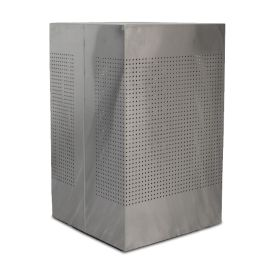 WITT Celestial 40 Gallon Square Perforated Receptacle, Brushed Stainless Steel Finish