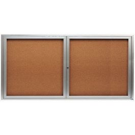 "36""H x 72""W Double Door Message Board"