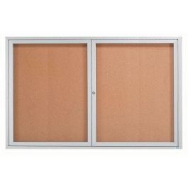 "48""H x 72""W Double Door Message Board"