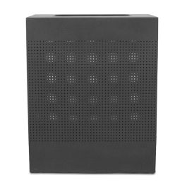 WITT Celestial 40 Gallon Rectangular Perforated Steel Receptacle, Black Finish