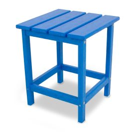 Polywood® Long Island Square Recycled Plastic Side Table, Vibrant Colors