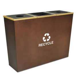 Metro 42 Gallon Triple Recycling Receptacle