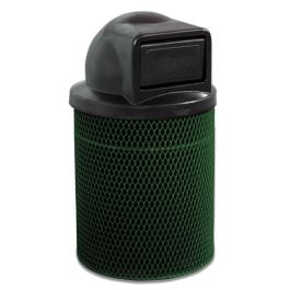 Anova Ultra 32 Gal Expanded Steel Trash Receptacle, Dome Top