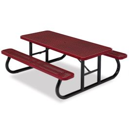 6' Rectangular Expanded Steel Table, Portable Frame