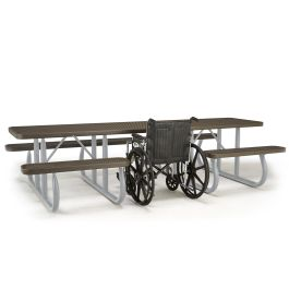 Anova 10' ADA Rectangular Expanded Steel Table, Portable Frame
