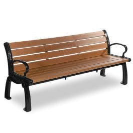Frog Furnishings Heritage 6' Recycled Plastic Bench with Cast Aluminum Frames