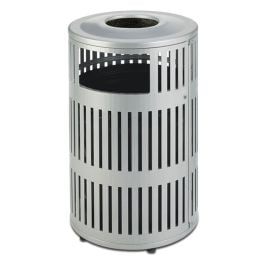 Anova Metrix 40 Gallon Trash Receptacle, Side Door, Ash Top