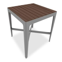"Anova Mixx 34"" Square Recycled Plastic Bar Height Table"