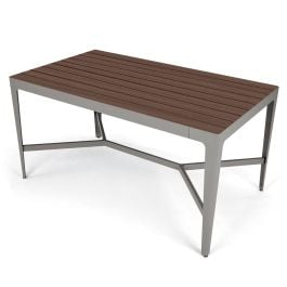 "Anova Mixx 42"" x 72"" Recycled Plastic Bar Height Table"