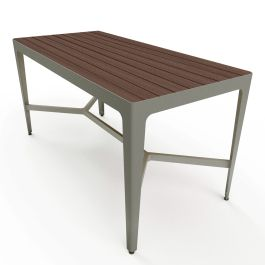 "Anova Mixx 34"" x 72"" Recycled Plastic Bar Height Table"