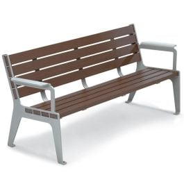Anova Madison 6' Recycled Plastic Contour Bench