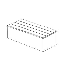 """Join 18""""H x 23""""W x 58""""L Thermally Modified Wood Bench with Left to Right Wood Placement"""
