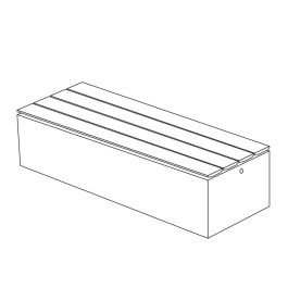 """Join 18""""H x 23""""W x 69""""L Thermally Modified Wood Bench with Left to Right Wood Placement"""