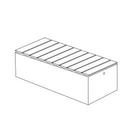 """Join 18""""H x 23""""W x 58""""L Thermally Modified Wood Bench with Front to Back Wood Placement"""