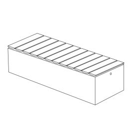 """Join 18""""H x 23""""W x 69""""L Thermally Modified Wood Bench with Front to Back Wood Placement"""