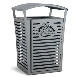 Anova Exposition 45 Gallon Trash Receptacle/Recycler, Custom Door