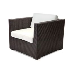 Texacraft Nexus Woven Lounge Chair with Arms and Cushions