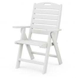 Polywood Nautical Recycled Plastic Highback Folding Dining Chair