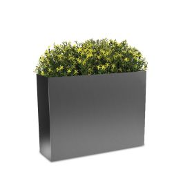 "Planters Perfect 24""H x 10""W x 32""L Rectangular High Series Rimmed Aluminum Planter"