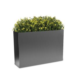"Planters Perfect 24""H x 10""W x 36""L Rectangular High Series Rimmed Aluminum Planter"