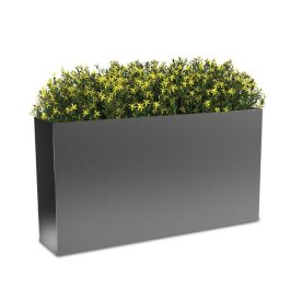 "Planters Perfect 24""H x 10""W x 46""L Rectangular High Series Rimmed Aluminum Planter"