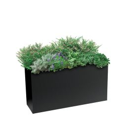"Planters Perfect 16""H x 10""W x 32""L Rectangular Low Series Rimmed Aluminum Planter"