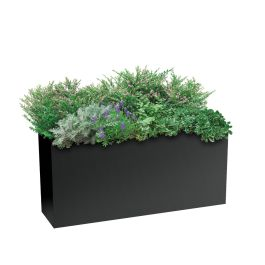"Planters Perfect 16""H x 10""W x 36""L Rectangular Low Series Rimmed Aluminum Planter"